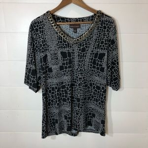 Dana Buchman Black & White Shirt